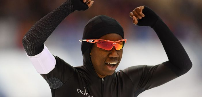 1st African-American woman on U.S. Olympic Speed Skating Team